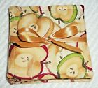 COASTER SET~Set Of 4~Handcrafted~FRUIT DESIGNS~Reversible~Washable~Lined~NEW~FRE