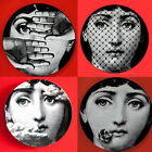 "8"" Plate Reproduction Replica Fornasetti Porcelain Dish Art Nouveau Home Decorat"