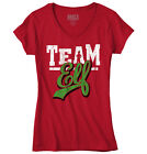 Team Elf Ugly Christmas Sweater Funny T Shirts Gift Ideas Junior V-Neck Tee