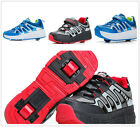 Unisex Boys Girls Kids Retractable Wheeled Roller Skate Shoes Youth Sports Shoes