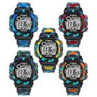 Kids Waterproof Children Boys Digital LED Sports Watch Alarm Date Watches Gift image