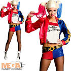 Harley Quinn Ladies Fancy Dress Halloween Suicide Squad Womens Villain Costume