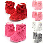 Toddler Baby Girl Fleece Knit Woolen Snow Boots Bowknot Soft Sole Crib Shoes New