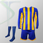 Football Team Kits - 15 x Milan Blue / Yellow - Full Team Kit - All Numbered !!!