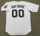 "CLEVELAND INDIANS 1970 Majestic Cooperstown Home ""Customized"" Baseball Jersey"