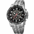 Men's August Steiner AS8118 Swiss Quartz Chronograph Date Stainless Steel Watch
