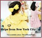 NEW baby kid girl Yellow Pink jacket coat outwear trench xmas 2T 3T 4T 5T 6/7 se