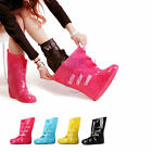 Woman Folding Rain Boots Rubber Shoe Covers