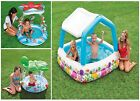 BABY/TODDLER INFLATABLE SWIMMING PADDLING POOL, SEA TURTLE & LiL STAR SHADE POOL