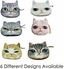 Childrens Cute 3D Cat Zipper Case, Coin Purse, Wallet, Makeup Bag