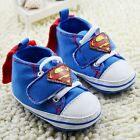 Baby Boy Superbaby Superman Blue Pre Walker Boots Shoes With Cape