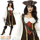Deluxe Pirate Wench Ladies Fancy Dress Womens Adults Halloween Costume Outfit