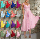 New V-Neck A-line Floor-Length Bridesmaid Dress Long Evening Dress Size 6-26