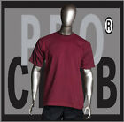 1 New Mens Pro Club Heavyweight Burgandy Blank T Shirt M to 3XL PROCLUB