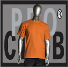 1 New Mens Pro Club Heavyweight Orange Blank T Shirt M to 3XL PROCLUB