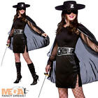 Bandit Beauty Ladies Fancy Dress Mask of Zorro Mexican Womens Halloween Costume