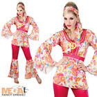 1960s Hippie Honey Dress Ladies Fancy Dress 60s Hippy Womens Costume Outfit New