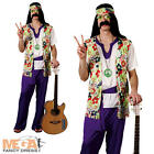 Peace Man Hippy Fancy Dress 1960s-1970s Mens Adult Costume 60s Groovy Outfit New