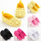 Infants Baby Girls Princess Crochet Crib Sole Newborn Prewalker Kids Soft Shoes