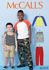 McCalls 7379 Unisex Boys Girls Top Shorts Trousers Sewing Pattern 3-14Yrs M7379