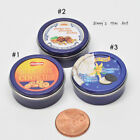 1:12 Dollhouse Miniatures Cookies Round Tin Boxes Case/ Miniature cookie box B11