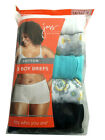 "JUST MY SIZE 5-Pack Women BOY BRIEFS Plus Size 9-14 100% COTTON NEW  ""TAGLESS"""