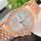 Fashion Women Girl Butterfly Rhinestone Luxury Alloy Quartz Dress Wrist Watch