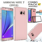 SAMSUNG GALAXY NOTE 7 CASE COVER, LIGHTWEIGHT ULTRA CLEAR SLIM BUMPER CASE+FILM