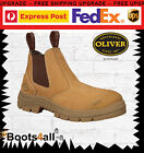 New Oliver Work Safety Boots Shoes Steel Toe Slip On AU/UK Sizes AT's 55322