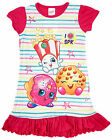 Girls Shopkins Cookie D'Lish Polly Stripe Frill Nightdress Nightie 2 to 8 Years