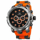 Men's Joshua & Sons JS71 Swiss Quartz Multifunction Day Date Rubber Strap Watch
