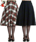HELL BUNNY DORALEE 50s TARTAN CHECK rockabilly SKIRT BLUE GREEN WHITE XS-4XL