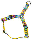 Country Brook Design® Tie Dye Flowers Ribbon Step-In Dog Harness