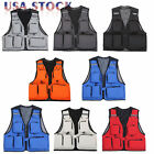 Outdoor Fishing Vest Photography Waistcoat Multi-Pockets Hiking Travel Jacket