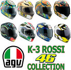 Free 2day Ship AGV K3 Series Valentino Rossi 46 Full Face Helmet Motorcycle