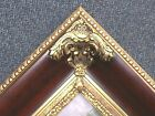 "6"" WIDE LARGE Ornate Brown Red Mahogany Gold Picture Frame 689RP"