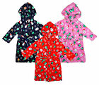Boys Girls Fleece Xmas Dressing Gown Christmas Robe with Hood 2-6 Years