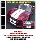 """GE-K720 2015 2016 Mustang 10"""" Lemans Straight Racing Stripe DECAL Coupe No Wing"""