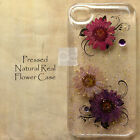 JBU Disegno Pressed Real Flower Crystal Hard Skin Case For Samsung iPhone LG G5
