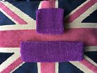 Brand New Purple Sweatband & Headband Set perfect for cheerleading or any sport