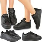 New Womens Ladies Flat Trainers Lace Up Pumps Sneakers Comfy Casual Shoes Size