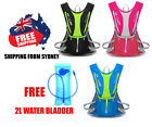 Hydration Water Bag Pack Backpack Rucksack Cycling Hiking Camping 2L Bladder