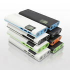 AU Portable 50000mAh 3USB External Battery Power Bank 2LED LCD Charger For Phone