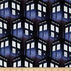 DR WHO PACKED TARDIS BOX LICENSED DISNEY QUILT SEWING FABRIC *Free Oz Post