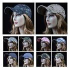 Men Women Plain Baseball Cap Camo Army Military Caps Hunting Fishing Golf Hat
