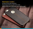 iPhone 7, 7Plus Upscale Genuine Leather Case Skin for men + Tempered Glass Film