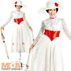 Mary Poppins Jolly Holiday Ladies Fancy Dress Disney Musical Womens Costume New