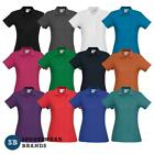 Ladies Crew Polo Shirt Top Size 8 10 12 14 16 18 20 22 24 Casual Work New P400LS