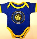NEW Baby INTER MILAN FC Logo Icon Soccer Fans Onesies Jumper Sizes 0-18 m.o.