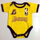 NEW Baby LA LAKERS Basketball Fans Onesies One Piece Jumper Suit Sizes 0-18 m.o.